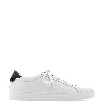 Givenchy Bh0002h0f116 Men's Wit/zwart leren sneakers