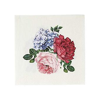 Truly Scrumptious Floral Small Paper Party Cocktail Napkins x 20