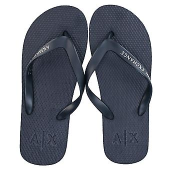 Men's Armani Exchange Solid Flip Flops in Blue