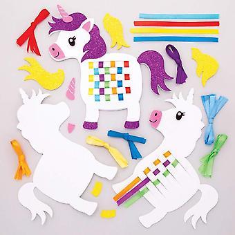 Unicorn weaving kits (pack of 6)
