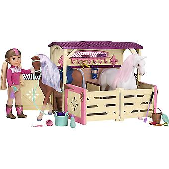 Glitter Girls GG57000Z Battat & All Asparkle Acres Riding Stable Set for 14-inch Horses (35.6 cm)