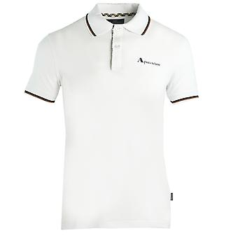 Aquascutum Tipped Collar White Polo Shirt