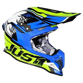 Just1 J12 Carbon Dominator Adult ACU Gold MX Helmet - Neon Yellow