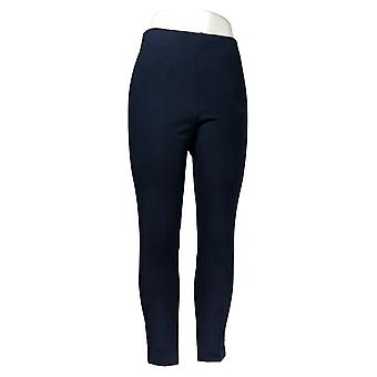 Kelly By Clinton Kelly Women's Petite Pants Pull On Ponte Blue A272027