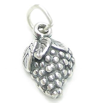Grapes Sterling Silver 2d Charm .925 X 1 Grape Wine Charms - 2050