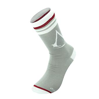 Men's Assassin's Creed Logo Grey Crew Socks