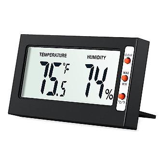 Lcd digitale hygrometer thermometer luchtvochtigheid monitor met temperatuurmeter vochtigheid meter voor indoor keuken thermometer