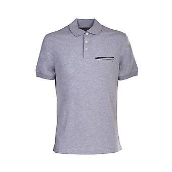 Brunello Cucinelli M0t718165c9300 Hombres's camisa polo de algodón gris