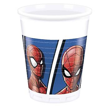 Feestbekers Spider-Man 200 Ml 8 Stuks Wit