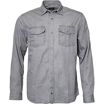 Replika Jeans Tall Fit Twin Pocket Denim Shirt