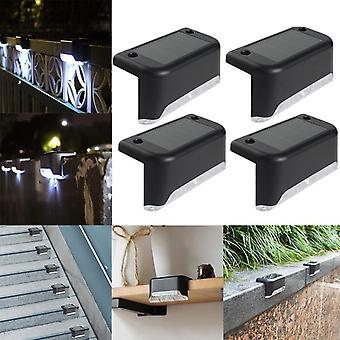 4pcs Of Led Solar Path Stair Wall Lamp, Energy-efficient For Garden, Yard Fence
