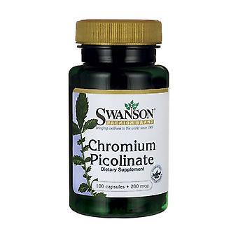 Chromium Picolinate, 200mcg 100 capsules