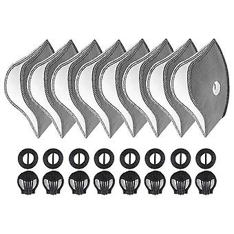 Active Carbon Filters Breathing Valves Accessories For Cycling Mask (8 Sets)