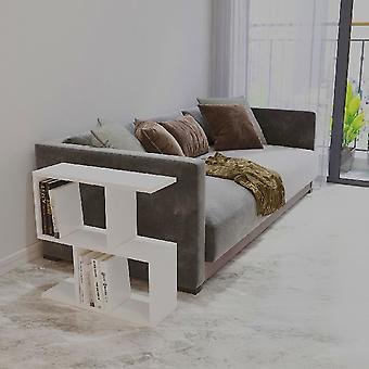 Mesa de Café's Ecrin White In Melamine Chipboard, L60xP20xA59.4 cm