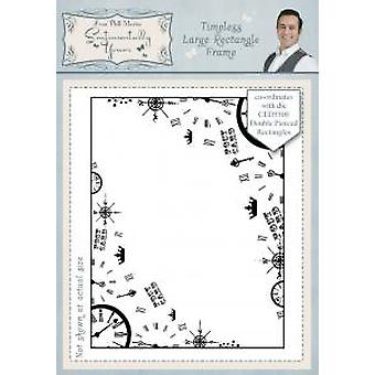 Sentimentally Yours Timeless Large Rectangle Frame Pre Cut Stamp