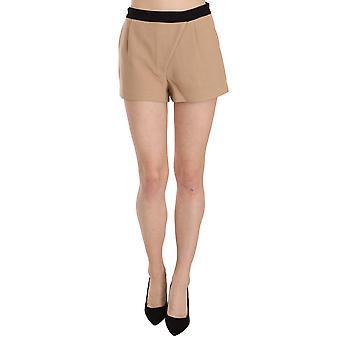 Shorts Beige Baumwolle Mid Taille Mini Kurz