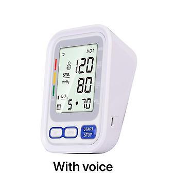 الرعاية الصحية المنزلية الساخنة الرقمية lcd أعلى الذراع ضغط الدم رصد ضربات القلب آلة قياس الطن لقياس التلقائي