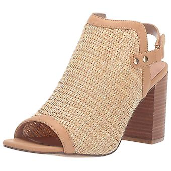 Steven by Steve Madden Womens SWEE01D1 Leather Peep Toe Casual Mule Sandals
