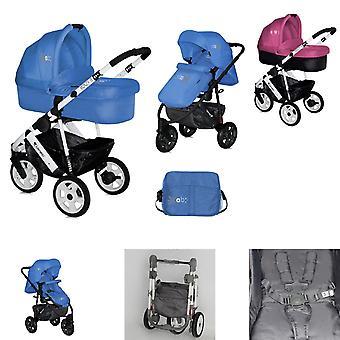 Cochecito Lorelli 2 en 1 monza, neumáticos, cambiador de bolsa, baño para bebés, asiento deportivo
