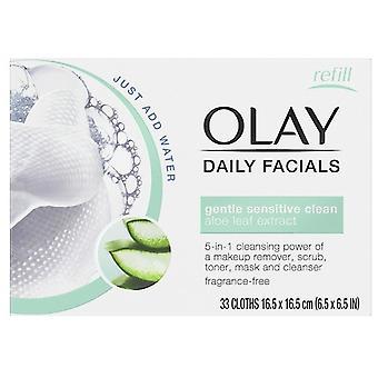 Olay Cleanse Daily Facials Sensitive 30 Unidades