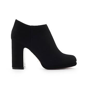 L'autre Chose Black Suède Heel Ankle Boot