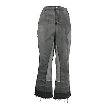 LOGO من قبل لوري غولدشتاين المرأة و apos; ق صغيرتي جينز التمهيد مصغرة قص رمادي A389928