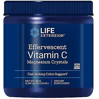 تمديد الحياة فوارة فيتامين C بلورات المغنيسيوم 180g