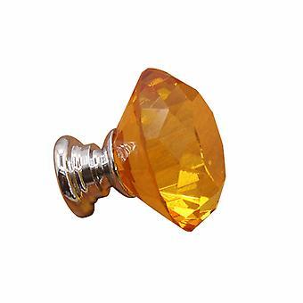 2PCS Crystal Drawer Knobs Diamond Shaped Drawer Pulls