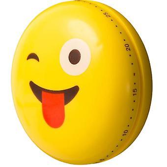 cooktimer magnetisk emoji tunge 6 cm ABS gul