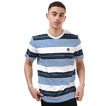 Menn's Timberland Konstruert Crew Stripe T-skjorte i blått