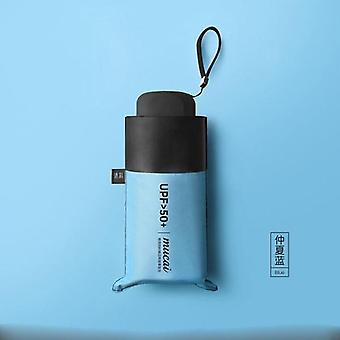 koreansk minificka fällbart paraply (blå)