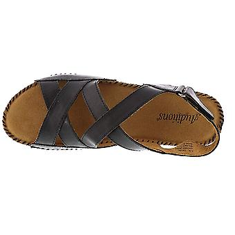 Auditions Womens Madrid Leather Open Toe Casual Strappy Sandals