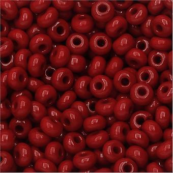 Czech Seed Beads 6/0 Dark Red Opaque (1 Ounce)