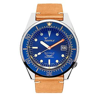 Squale 1521OCN.PC 500 Meter Swiss Automatic Dive Wristwatch Leather
