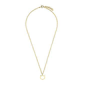 amor Halsband med kvinnors hänge, rostfritt stål, med katt