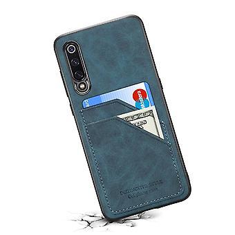 Læderetui med tegnebogskortplads til Samsung S10 blå