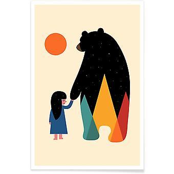 JUNIQE Print -  Go Home - Bären Poster in Bunt