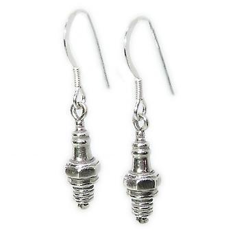 Zündkerze Sterling Silber Tropfen Ohrringe .925 X 1 Paar Stecker Autoteile Tropfen - 15386