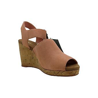 Toms Womens Tropez Leather Open Toe Casual Platform Sandals