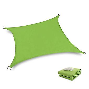 2*2M green waterproof sun shade sail canopy uv resistant for outdoor patio x4837