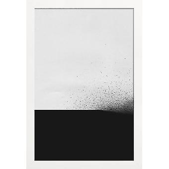 JUNIQE Print - Black 00 - Abstract & Geometric Poster in Grey & Black