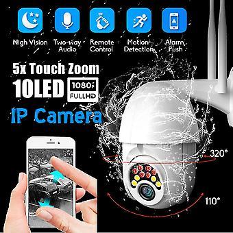 Guudgo 10led 5x التكبير HD 2mp كاميرا الأمن الملكية الفكرية واي فاي اللاسلكية 1080p في الهواء الطلق ptz الرؤية الليلية للماء onvif