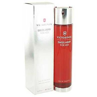 Schweizisk armé av Victorinox Eau De Toilette Spray 3.4 Oz (kvinnor)