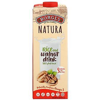 Borges Milk Rice Walnut, Case of 6 X 33.8 Oz