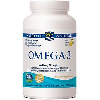 Nordic Naturals Oméga-3, 1000 mg, Citron 180 gélules