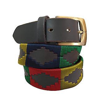 Carlos Díaz cinturón de cuero marrón awo14053