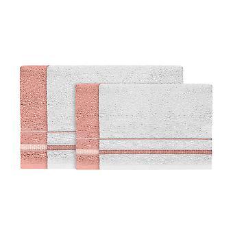 Asciugamano Estate, Colore Rosa, Bianco in Cotone, L40xP60 cm, L60xP100 cm