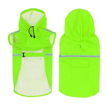 Dog Mantie pelerine de ploaie moale și confortabil PU Material impermeabil Jacheta de exterior Multi Size S-5XL culoare verde