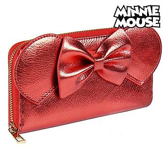 Purse Minnie Mouse Card holder Red Metallic 70686