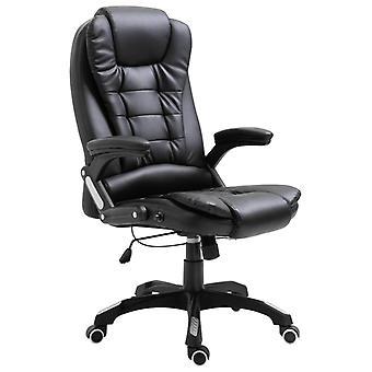 vidaXL chaise de bureau en simili-faux noir